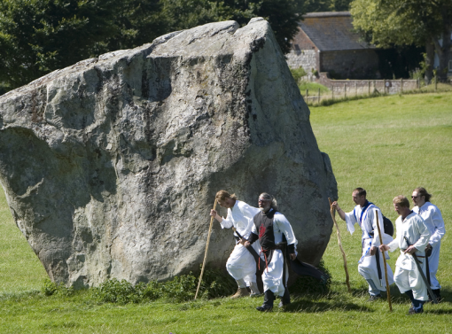 Druids and King Arthur at Avebury Stone Circle