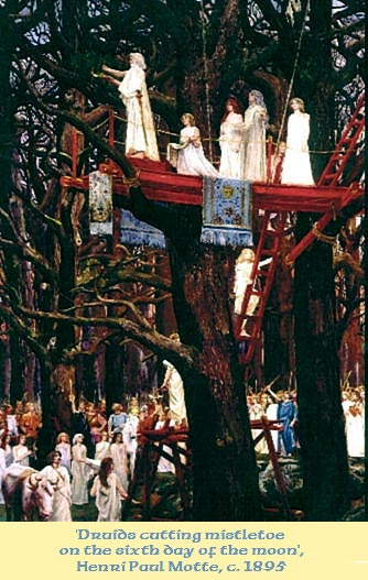 Druids cutting Mistletoe