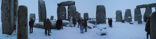 Stonehenge Winter Solstice Panoramic
