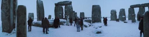 Stonehenge Winter Solstice Panoramic