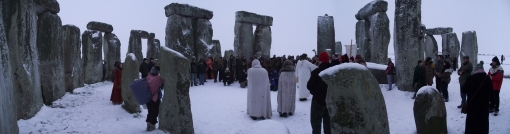 Stonehenge Winter Solstice 2010 Panoramic