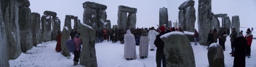 Stonehenge Winter Solstice 2010 Panoramic