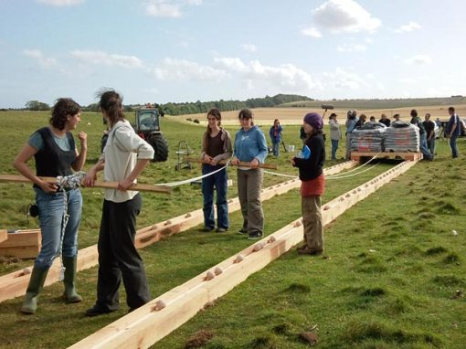 U.K. archaeology students attempt to prove a rail-and-ball system could have moved Stonehenge stones