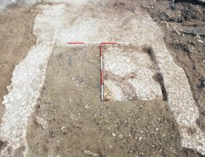 Marden henge's chalk foundations contained a sunken hearth which could have been used for purification ceremonies
