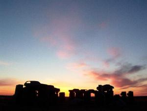 Car Henge at Sunrise