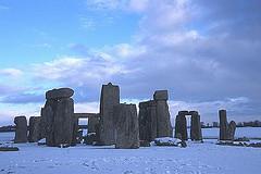 Stonehenge snow