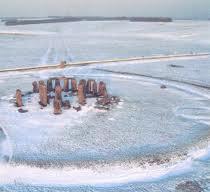 Stonehenge snow scene