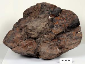 Likely the largest meteorite found in Britain, this one spans about 1.6 feet (0.5 meters) across and has been on Earth some 30,000 years.