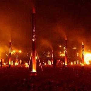 Fire Garden at Stonehenge 2012