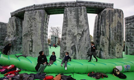 The once-in-a-lifetime experience of having an Olympic bounce on a replica of the world's most famous standing stones is also FREE.
