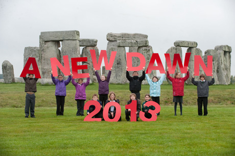 School children from Greentrees Primary School near Salisbury on a recent visit to Stonehenge.