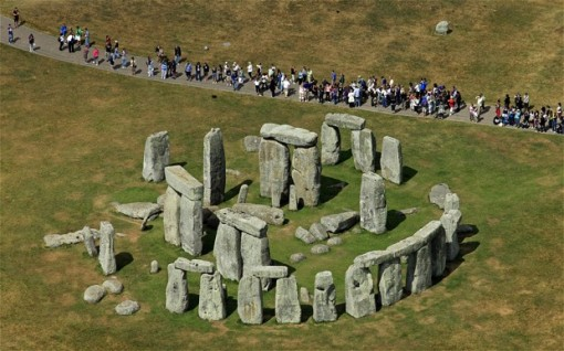 The people occupying the site would likely have been responsible for erecting the first monument at Stonehenge, the Mesolithic posts, between the 9th and 7th millennia BC.  Photo: REX