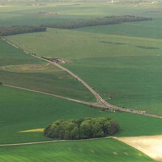 Existing A344 and junction with A303 at Stonehenge Bottom