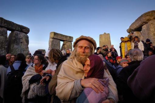 Each year revelers like these travel to Stonehenge to celebrate the summer solstice. Photograph by Jim Richardson, National Geographic