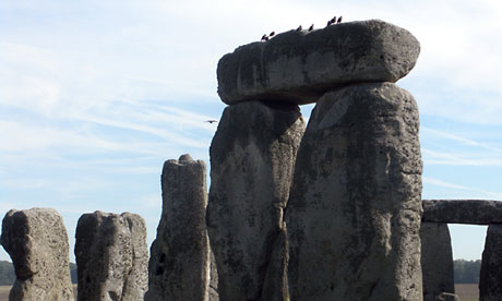 Archeologists found ridges, formed by Ice Age meltwater, that align Stonehenge with the solstice axis. Photograph: Francis Dean/Rex