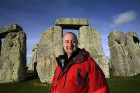 Tony Robinson at Stonehenge