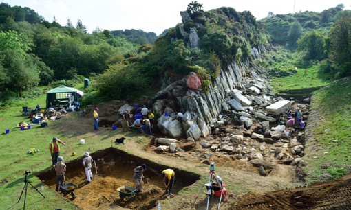 Archaeologists at one of the Stonehenge quarry sites in Wales. Photograph: UCL