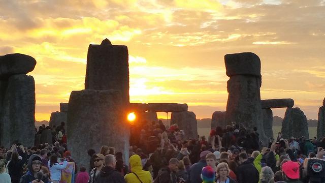 Sunrise at Stonehenge on the summer solstice