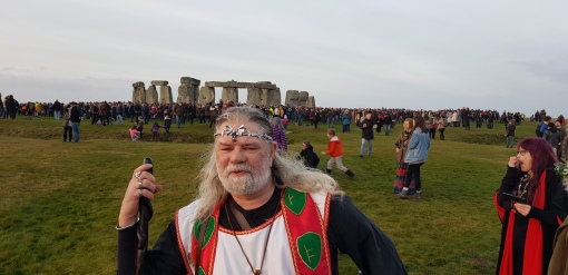 SUNRISE: Hundreds gathered at Stonehenge today to mark winter solstice