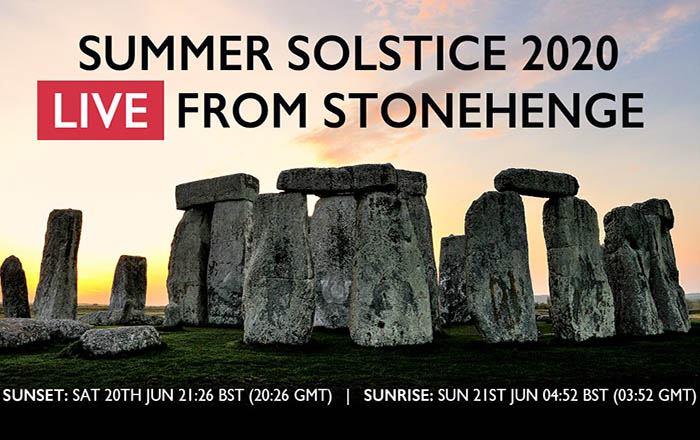 Stonehenge Summer Solstice live stream 2020